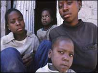 Family of Aids orphans, Kakalo village, Ndola, Zambia