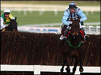 Best Mate clears the last fence in the 2003 Cheltenham Gold Cup
