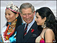 Prince Charles meets an Indian beauty queen