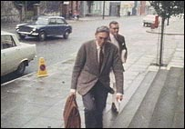 Arriving for work on the Londonderry inquiry in 1967
