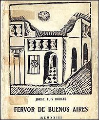 Primera edición del libro Fervor de Buenos Aires