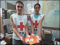 Campaña de prevención del SIDA de la Cruz Roja