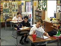 Few pupils at the island's tiny primary school