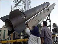 Iranian Zelzal missile