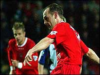 Danny Murphy scores for Liverpool from the penalty spot