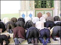 Prayer time at Id Kah Mosque in Kashgar