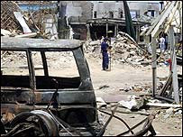 Bali bomb site, October 2002
