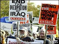 Anti-war demonstration in Washington October 2003