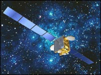 A communications satellite