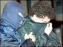 Red Brigades suspect Simone Boccacini (right)