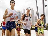 Running in Singapore