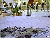 Aftermath of the 21 November attack on the Sheraton hotel in Baghdad