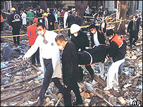 Scene of the bomb attack