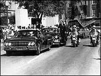 The JFK motorcade