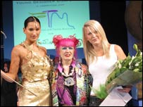 Ceri Evans and Zandra Rhodes