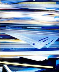 Pile of papers and documents, Eyewire