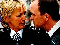Trudie Godwin (June Ackland) and Todd Carty (Gabriel Kent)