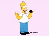 Homero Simpson, imagen de Matt Groening
