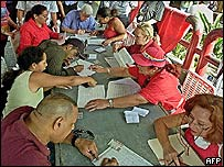 Gathering signatures in Venezuela
