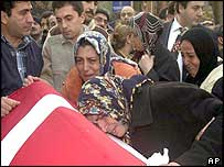 Funeral of Turkish victim