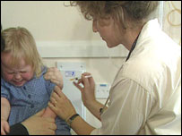 Child receives an injection