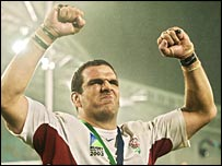 England skipper Martin Johnson