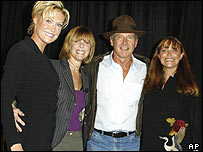 Harrison Ford with, from left, Alison Doody, Kate Capshaw and Karen Allen