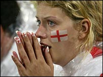 It was nail-biting stuff for the England fans