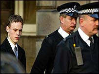 Paul Smith is led away from court after being sentenced