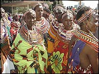Samburu women demonstrators