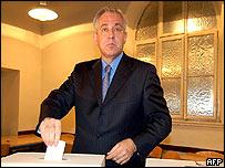 Nationalist HDZ leader Ivo Sanader