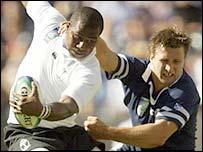 Fiji winger Rupeni Caucaunibuca gave Scotland a torrid time