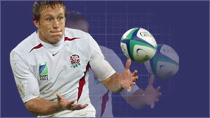 England fly-half Jonny Wilkinson shows BBC Sport Academy how to kick the perfect place kick