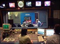 Radio Five Live studio