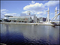 Lowry Centre and Manchester Ship Canal