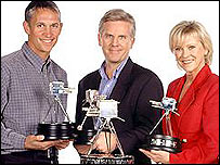 Sports Review of the Year hosts Gary Lineker, Steve Rider and Sue Barker