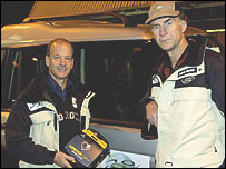 Mike Stroud y Ranulph Fiennes