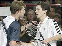 Andy Roddick and Tim Henman