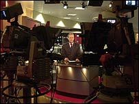 The studio of BBC News 24