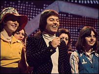 Tony Blackburn on the show in the 1970s
