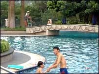 Swimming pool at Luhu Golf & Country Club, Guangzhou, China