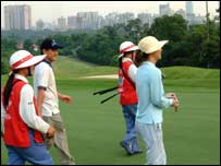 Golf course in Guangzhou
