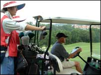 Golf buggy and caddy