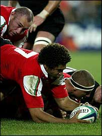 Charvis touches down against New Zealand