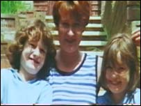 Mandy Power and her daughters Katie and Emily