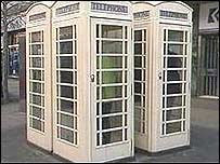 A white Hull phone box