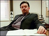 Ricky Gervais finished at number four