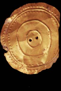 Gold sun disc uncovered in Ceredigion