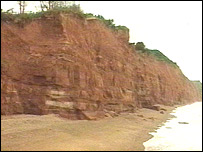 Cliffs at Salcombe Hill near Sidmouth