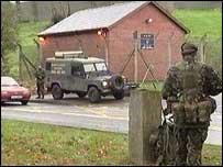 A device was left near the Dungannon Army base